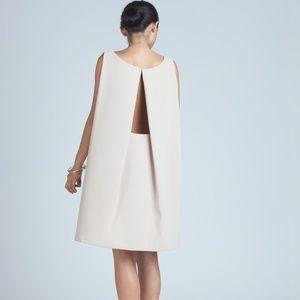 Kaarem Boatneck Open Back Dress Cream XS